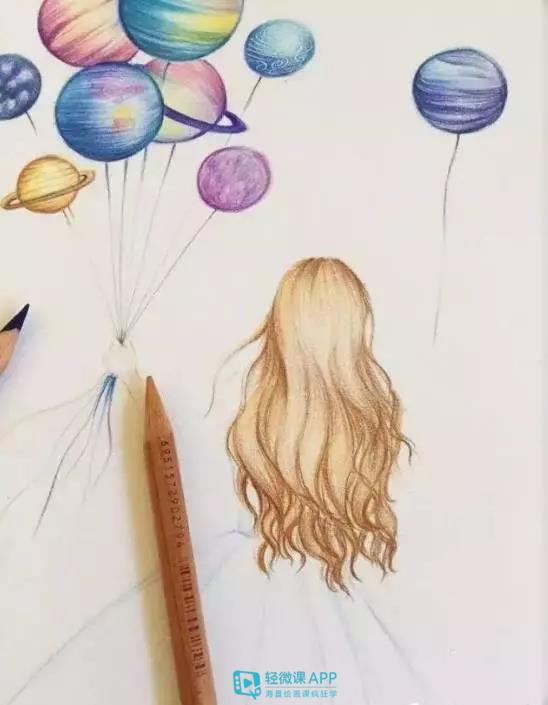 绘画学习 | 一组很简单的彩铅手绘插画教程!