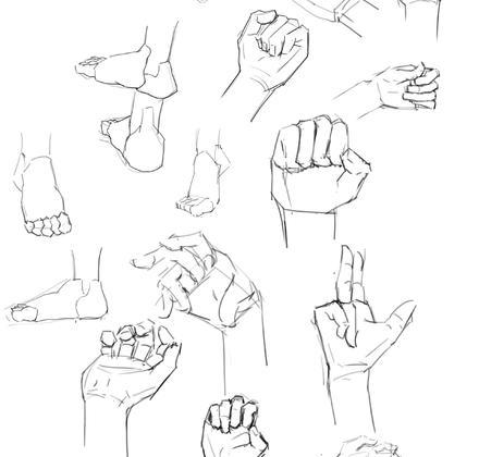 手掌與腳掌—人體四肢盒子概括練習