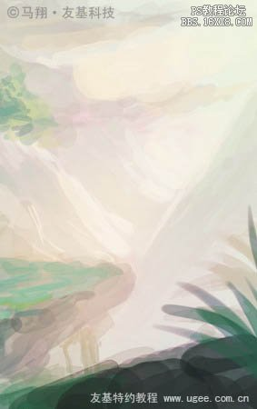 【ps鼠绘教程】绘画场景渲染怎么做?