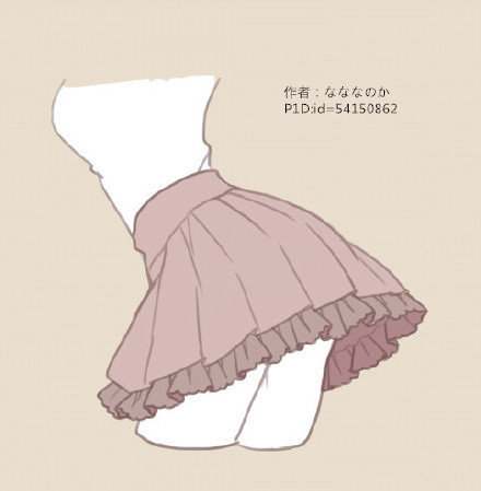 【绘画素材】洛丽塔风格的小裙子怎么画?多款参考