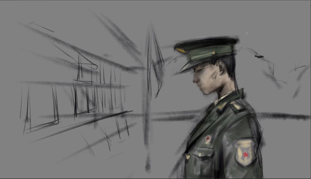 如何用板绘绘制帅气的兵哥哥