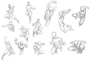 人体、五官、发型、姿势……都给你准备好啦! | 绘画教程素材汇总